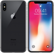 iPhone X 64GB Space Gray Olåst | NORMALT SLITAGE