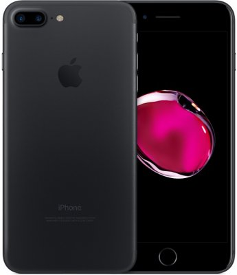 iPhone 7 plus 32GB Olåst Mattsvart