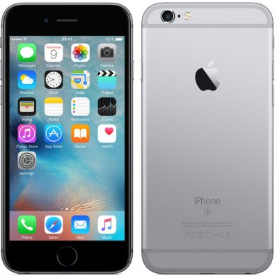 Begagnad iPhone 6S 16GB Space gray olåst